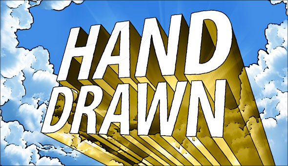 More hand-drawn 3D type in Photoshop