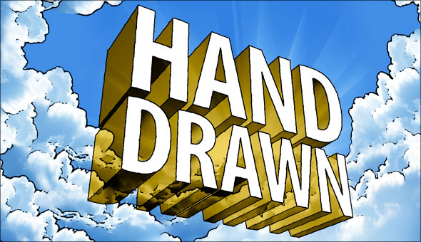 Hand-drawn 3D type in Photoshop