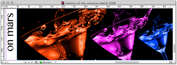 intergalactic cocktails in InDesign