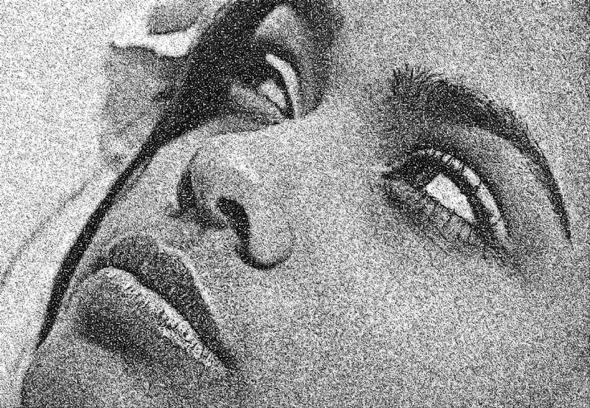Deke's Techniques 239: Turn A Portrait Into A Dot Drawing