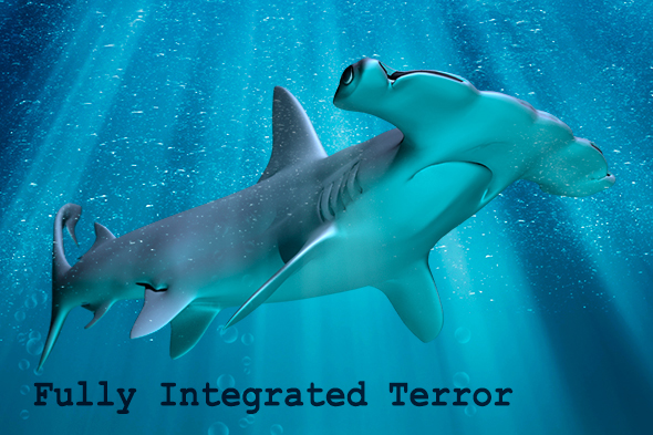 Fully integrated 3D shark
