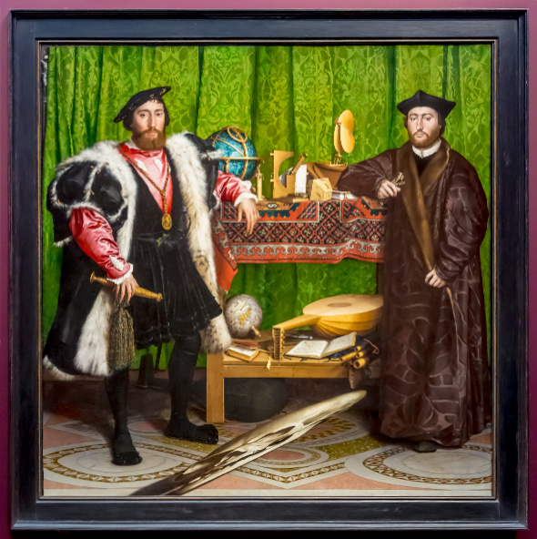 The Ambassadors by Hans Holbein (1533)