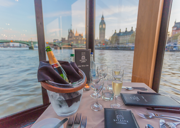 Original photo of our dinner on the Thames