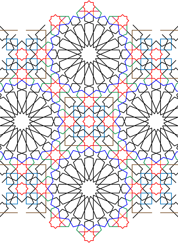 The completed geometric pattern in Illustrator
