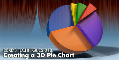 Deke's Techniques 018: Creating a 3D Pie Chart