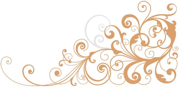 Gold background with many spiral - Swirls Dekeonline