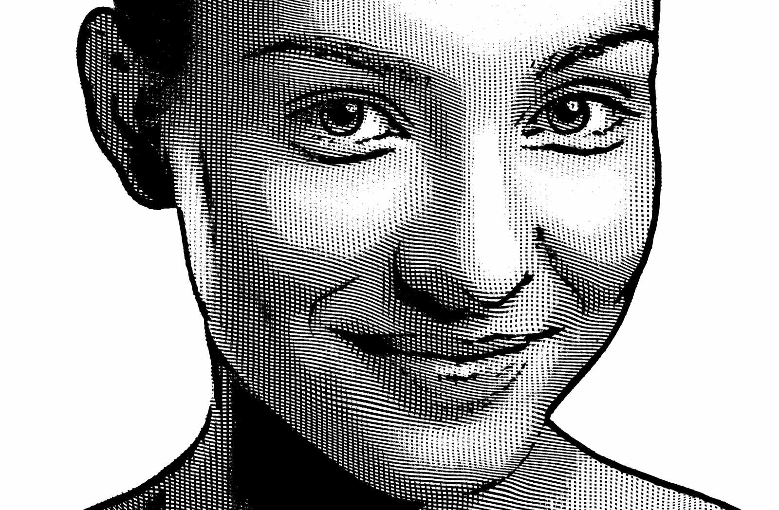 Creating a faux hedcut in photoshop